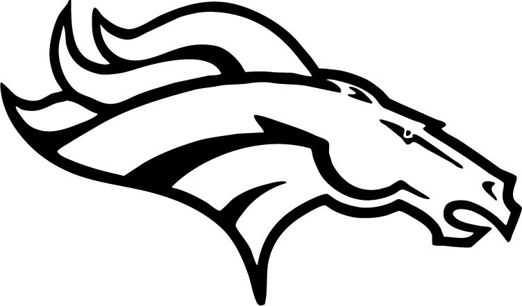 Best ideas about Coloring Pages For Boys Football Broncos . Save or Pin Football coloring pages denver broncos logo ColoringStar Now.