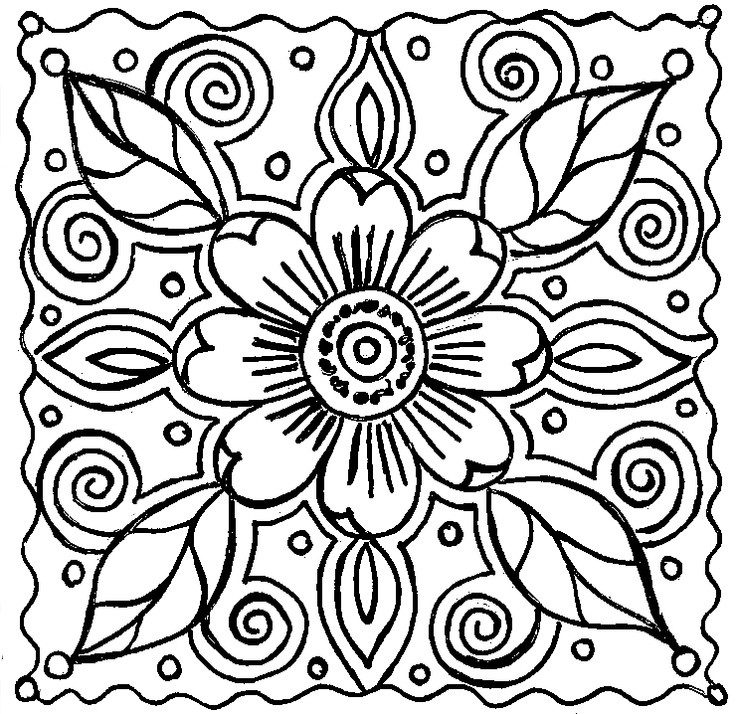 Best ideas about Coloring Pages For Girls 12 And Up Abstract . Save or Pin 15 kids coloring pages beautiful abstract Print Color Craft Now.