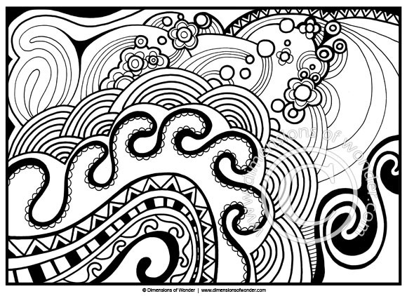 Best ideas about Coloring Pages For Girls 12 And Up Abstract . Save or Pin Abstract Coloring Pages For Adults Printable Now.