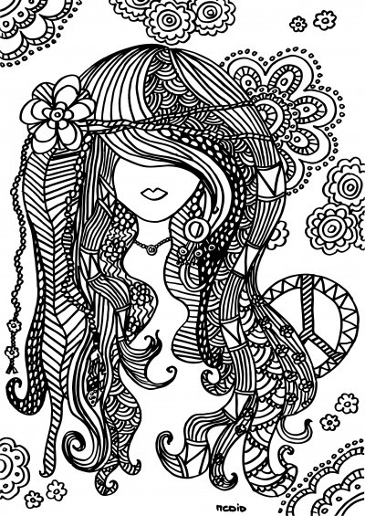 Best ideas about Coloring Pages For Girls 12 And Up Abstract . Save or Pin Kleurplaten voor volwassenen en kinderen CreaChick Now.