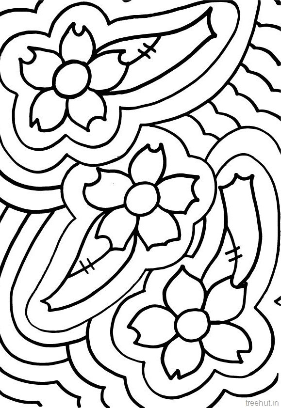 Best ideas about Coloring Pages For Girls 12 And Up Abstract . Save or Pin Abstract Flowers Coloring Pages for Teenagers Now.