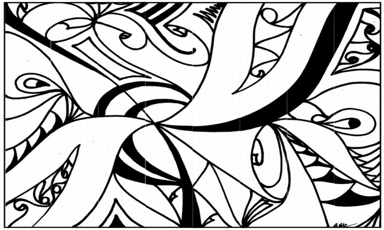 Best ideas about Coloring Pages For Girls 12 And Up Abstract . Save or Pin Cool Tree Design Coloring Abstract Pages For Teenagers Now.