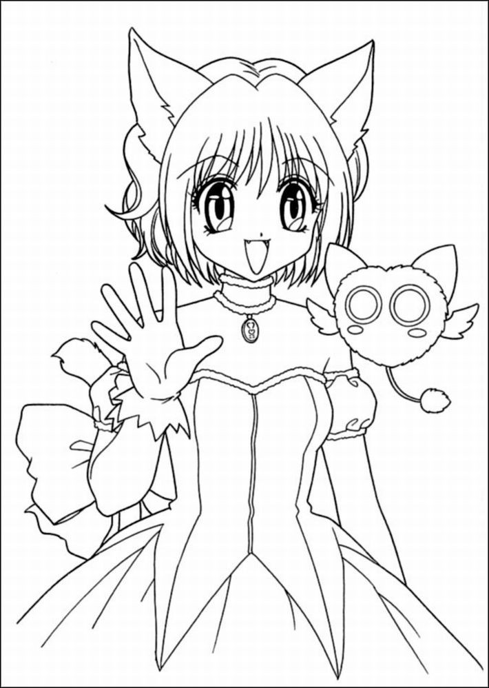 Best ideas about Coloring Pages For Girls Cat . Save or Pin Cat girl anime coloring pages ColoringStar Now.