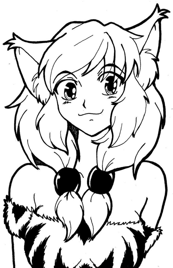 Best ideas about Coloring Pages For Girls Cat . Save or Pin Anime Cat Girl Coloring Pages Coloring Home Now.