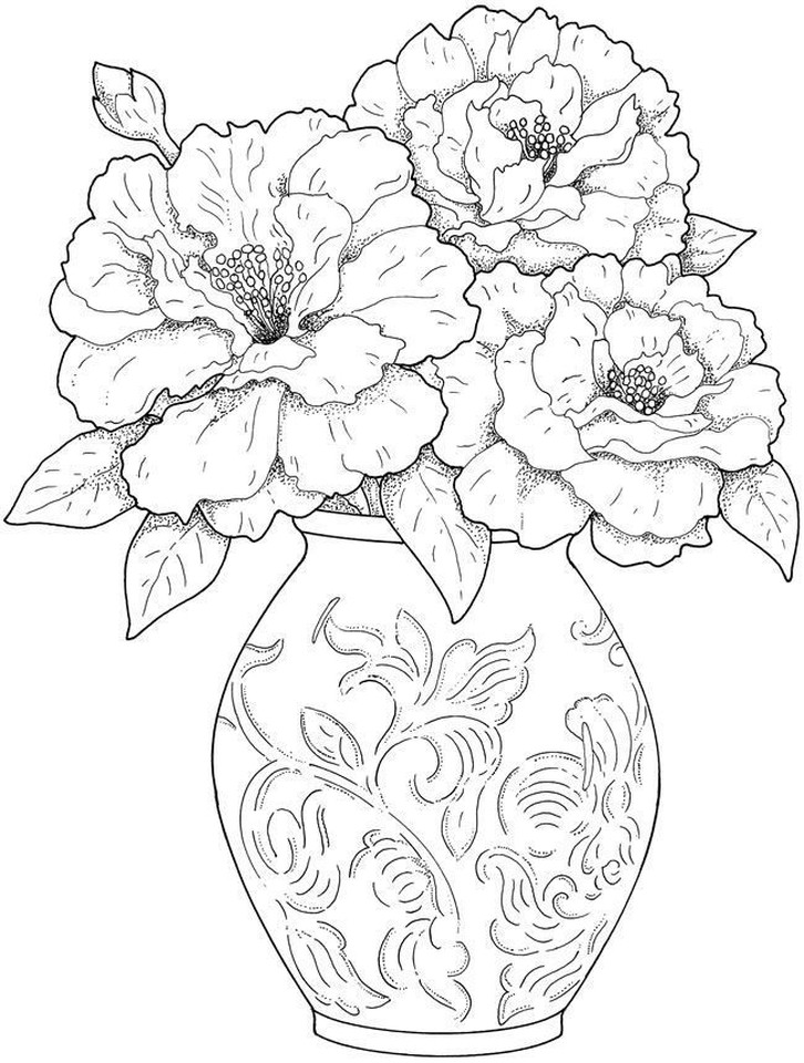 Best ideas about Coloring Pages For Girls Detailed . Save or Pin Detailed Flower Coloring Pages For Adults The Color Panda Now.