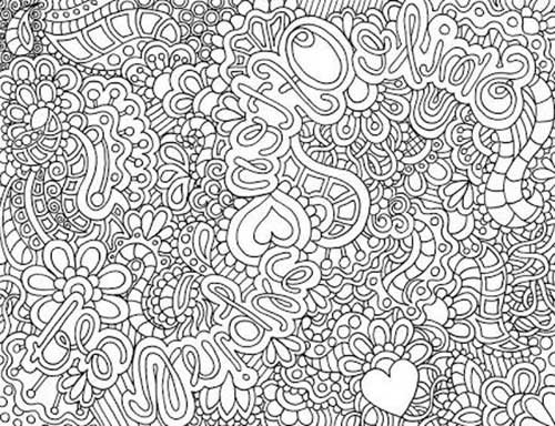 Best ideas about Coloring Pages For Girls Detailed . Save or Pin Desenhos Abstratos e Geométricos para Colorir Fácil Now.