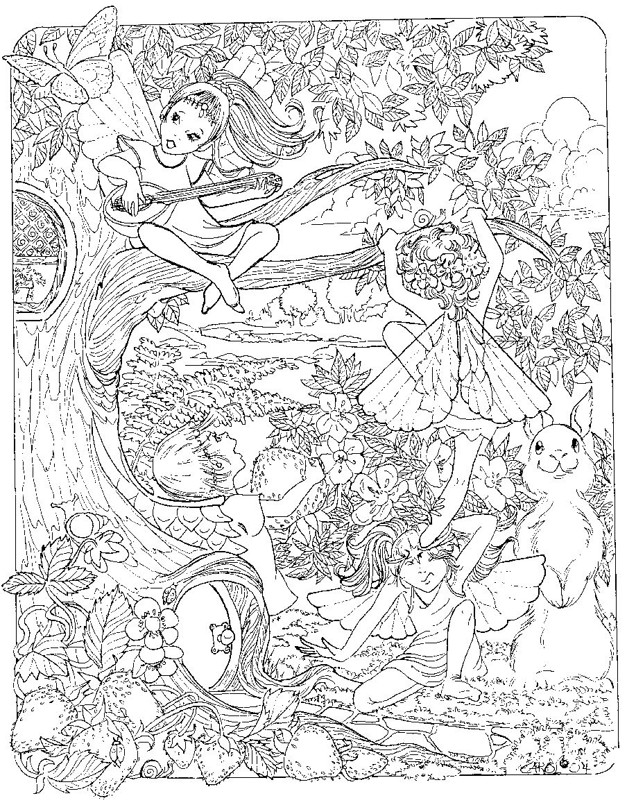 Best ideas about Coloring Pages For Girls Detailed . Save or Pin Free Printable Detailed Coloring Pages Best Image 44 Now.