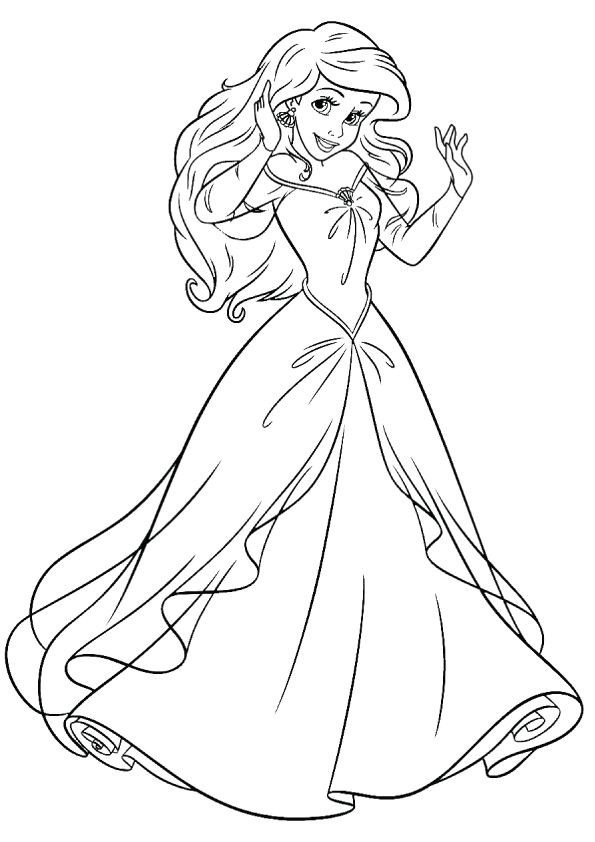 Best ideas about Coloring Pages For Girls Disney Princess . Save or Pin print coloring image printables Now.