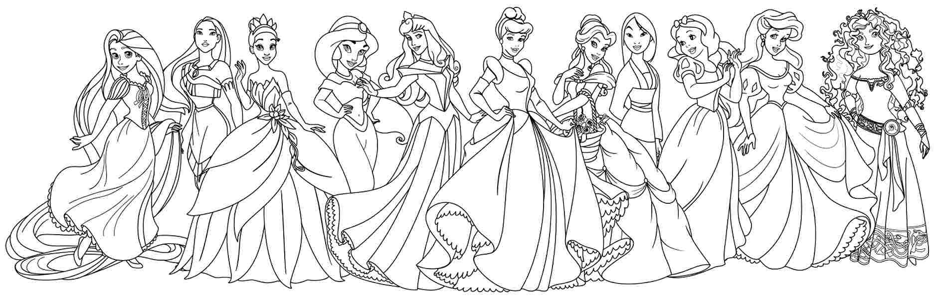 Best ideas about Coloring Pages For Girls Disney Princess . Save or Pin disney princess coloring pages for girls Free Coloring Sheets Now.