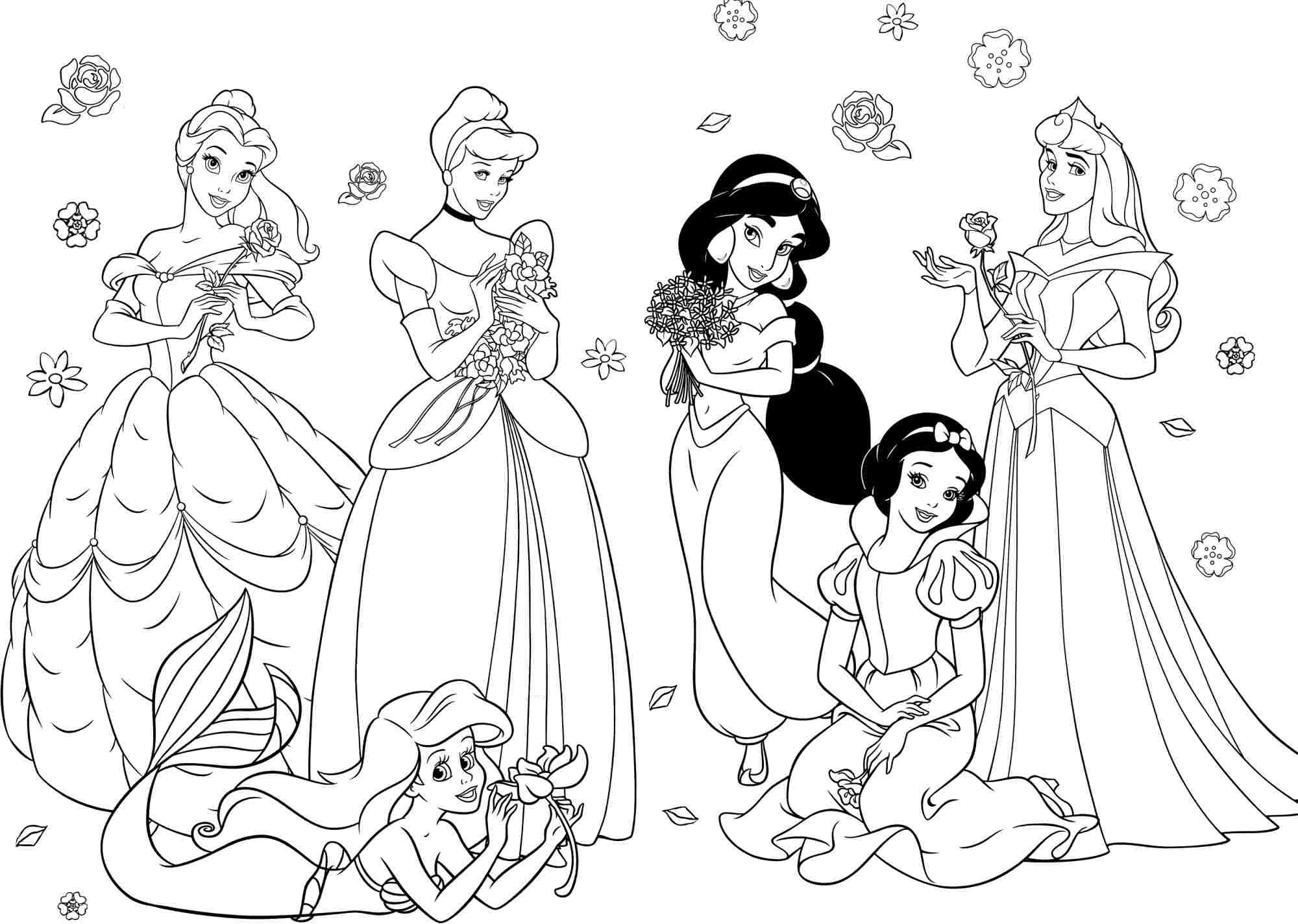 Best ideas about Coloring Pages For Girls Disney Princess . Save or Pin princess coloring pages for girls Free Now.