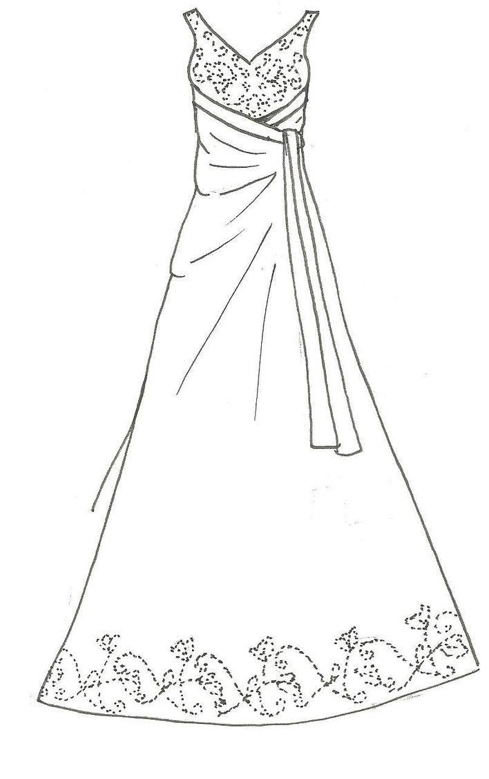 Best ideas about Coloring Pages For Girls Dresses . Save or Pin Prom Dress Coloring Pages Bestofcoloring Now.