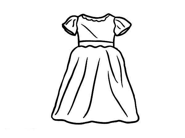 Best ideas about Coloring Pages For Girls Dresses . Save or Pin Dress Coloring Pages Now.