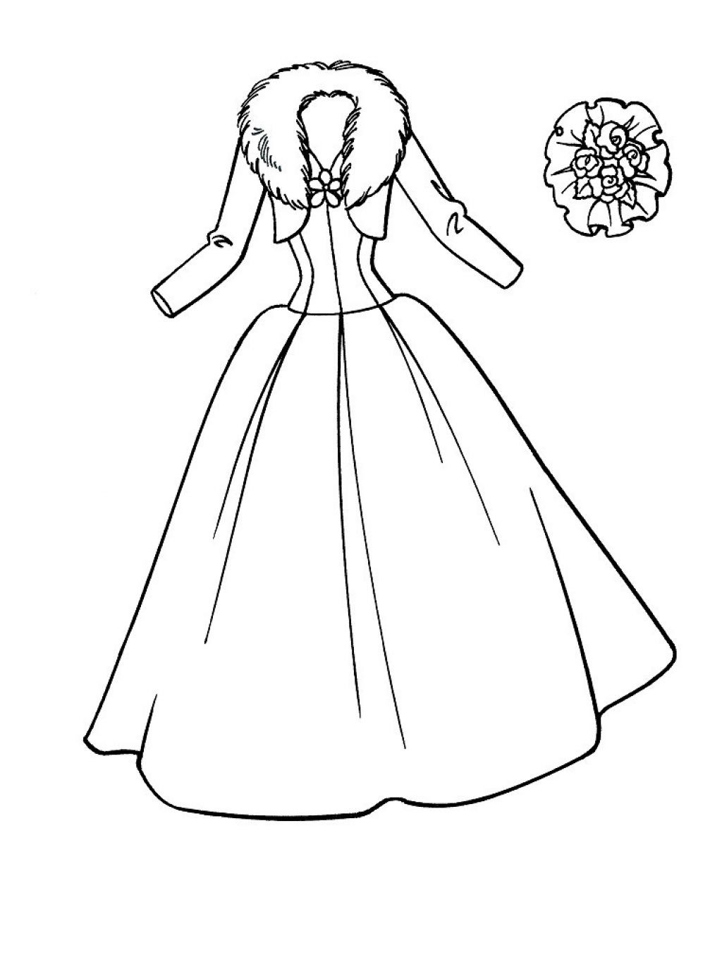 Best ideas about Coloring Pages For Girls Dresses . Save or Pin printable wedding dress coloring pages for girls Now.