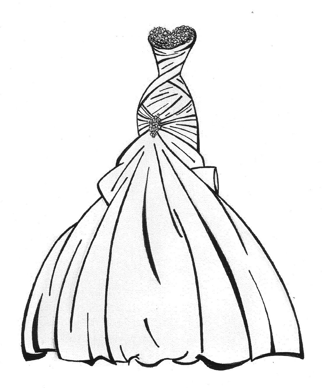 Best ideas about Coloring Pages For Girls Dresses . Save or Pin Dress Coloring Pages Necord Now.