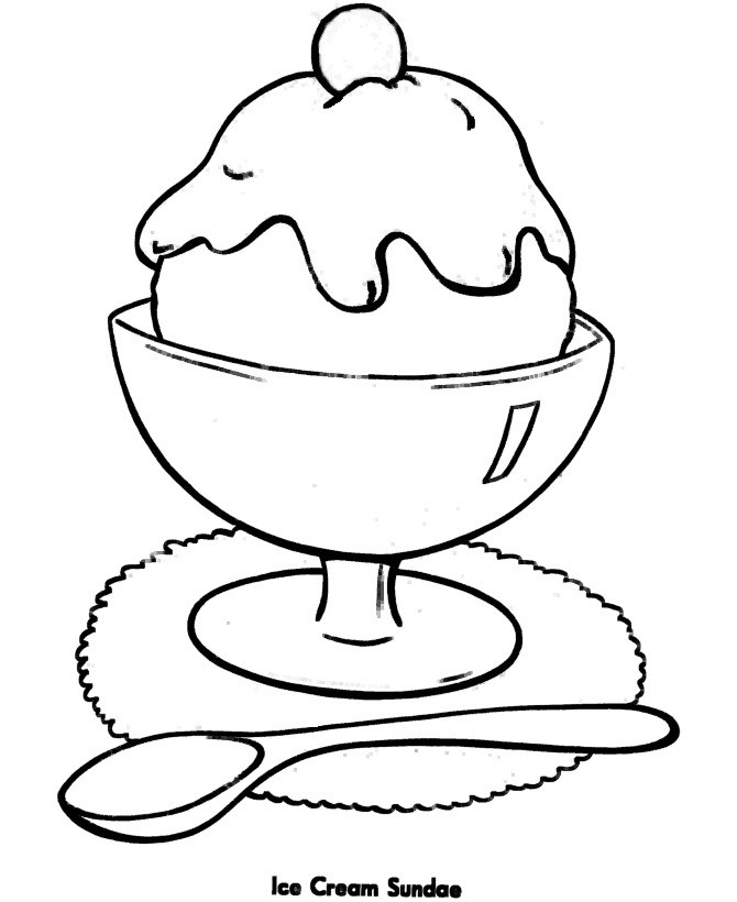 Best ideas about Coloring Pages For Girls Easy . Save or Pin Free Printable Ice Cream Coloring Pages For Kids Now.