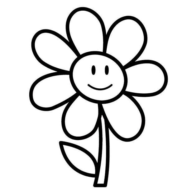 Best ideas about Coloring Pages For Girls Easy . Save or Pin Easy Printable Flower Coloring Pages Flower Coloring Now.