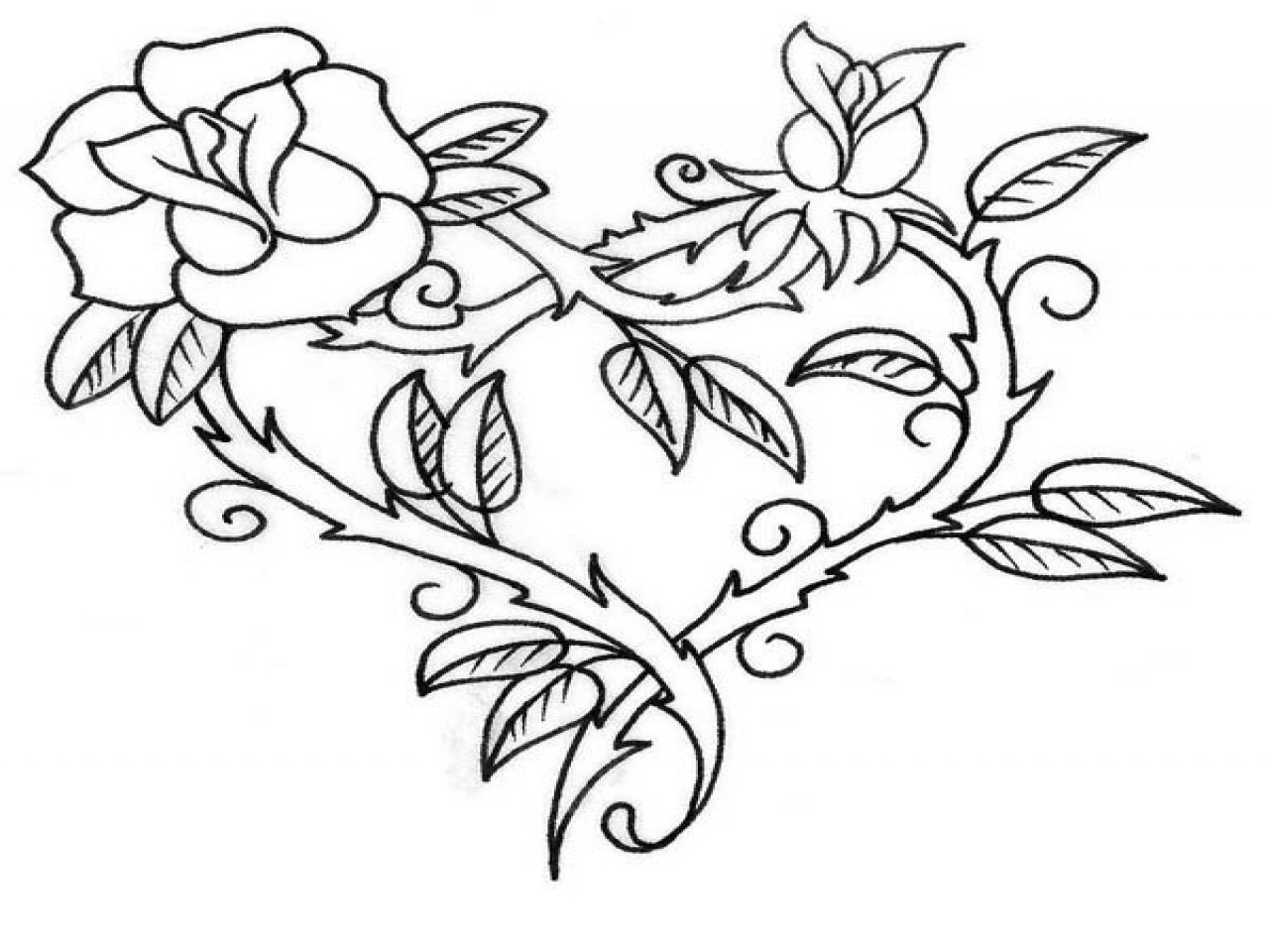 Best ideas about Coloring Pages For Girls Hearts . Save or Pin Rose Coloring Pages For Adults Roses And Hearts grig3 Now.