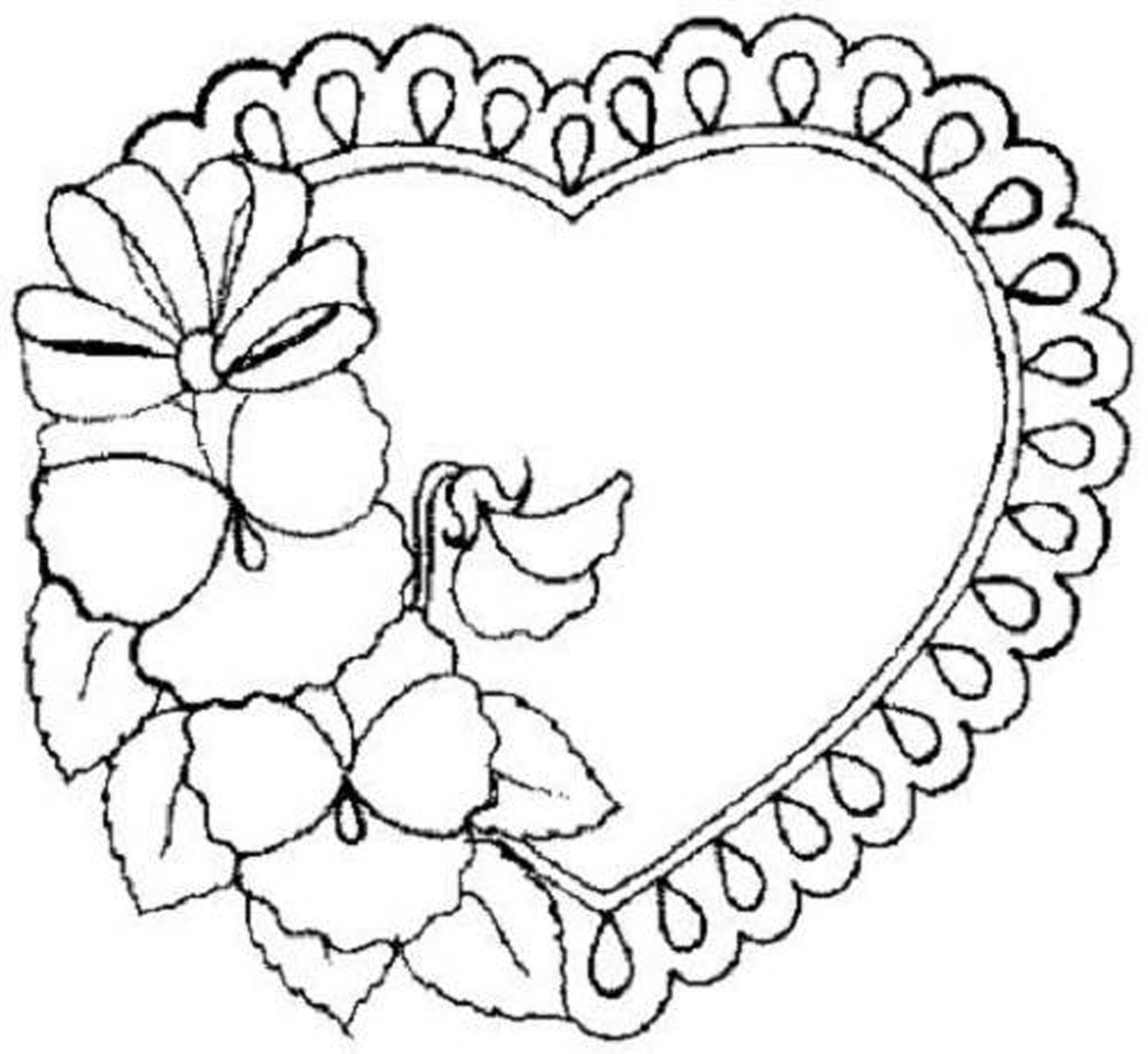 Best ideas about Coloring Pages For Girls Hearts . Save or Pin Flower Coloring Pages For Teens Coloring Home Now.