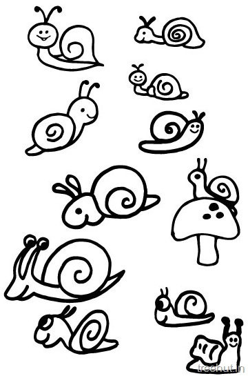 Best ideas about Coloring Pages For Girls Snails . Save or Pin Cute Snail Drawing and Coloring Pages Now.