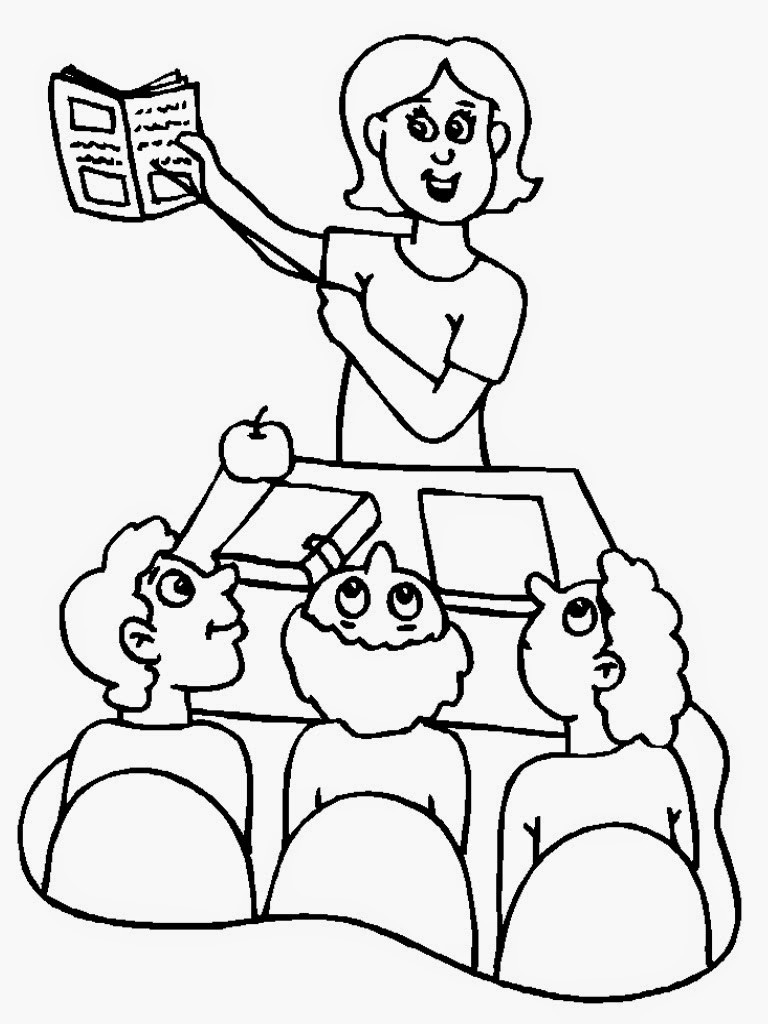 Best ideas about Coloring Pages For Girls Teacher . Save or Pin Teacher Coloring Pages Now.