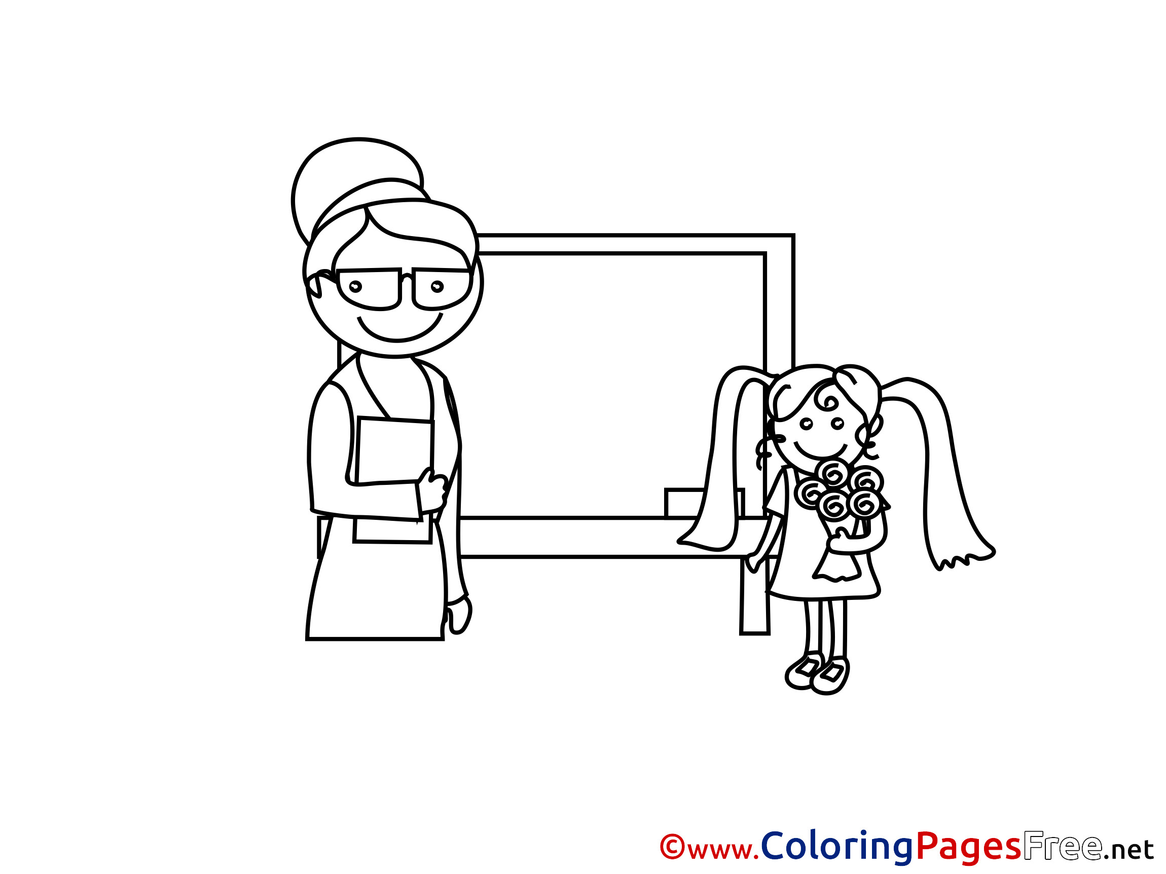 Best ideas about Coloring Pages For Girls Teacher . Save or Pin Teacher Girl printable Coloring Sheets Now.