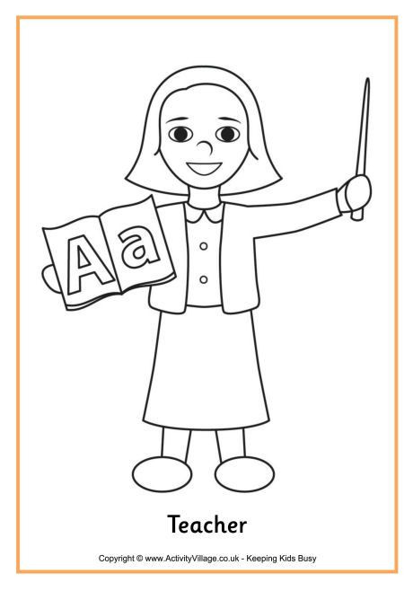 Best ideas about Coloring Pages For Girls Teacher . Save or Pin Teacher colouring page 4 good girl Now.