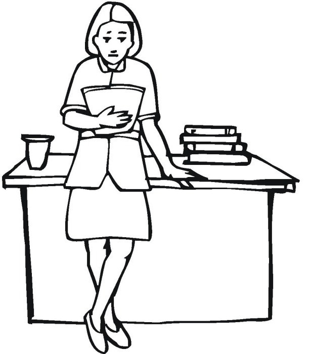 Best ideas about Coloring Pages For Girls Teacher . Save or Pin Teacher Cartoon Drawing at GetDrawings Now.