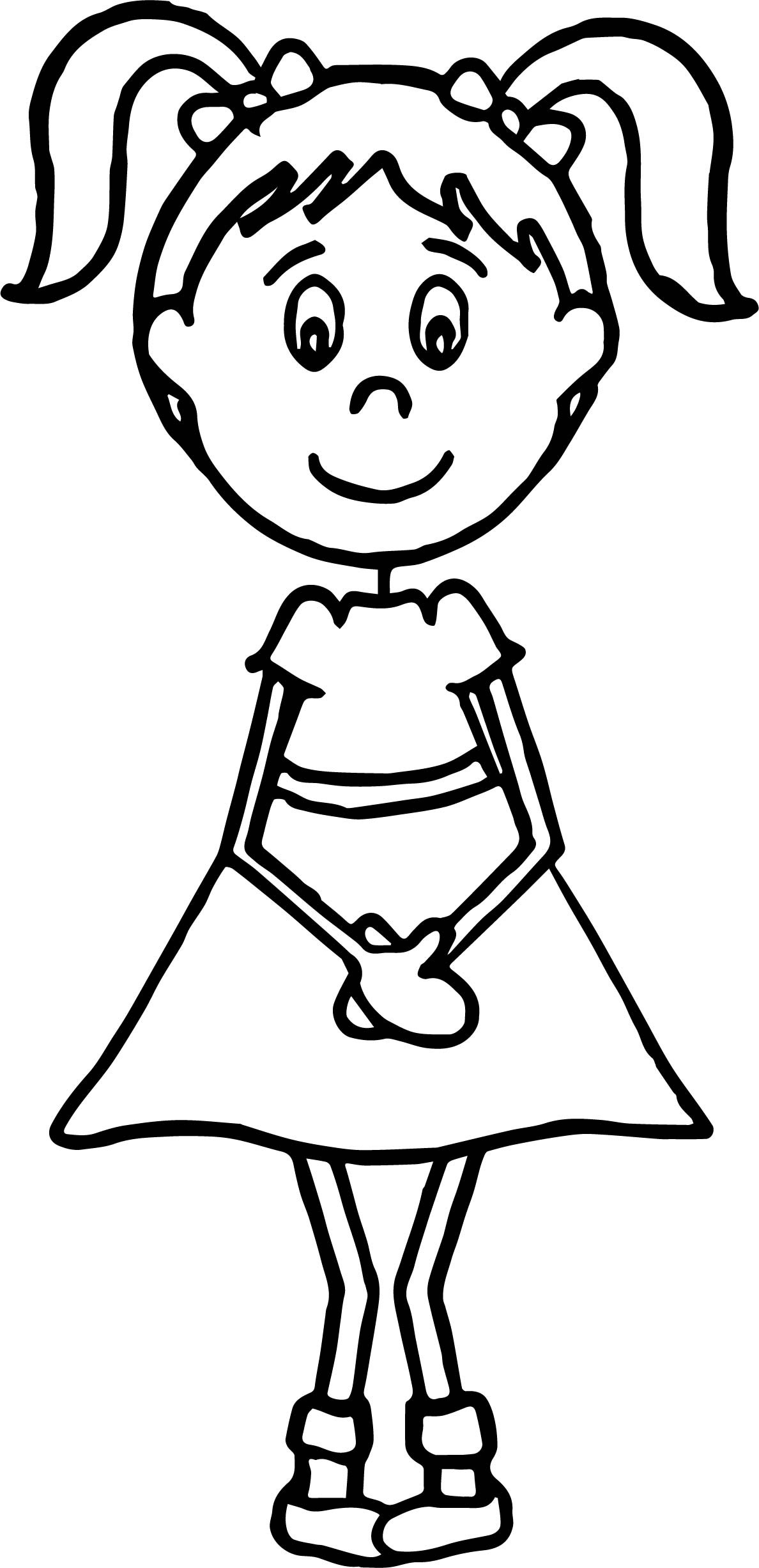 Best ideas about Coloring Pages For Girls Teacher . Save or Pin English Teacher Girl Student Coloring Page Now.
