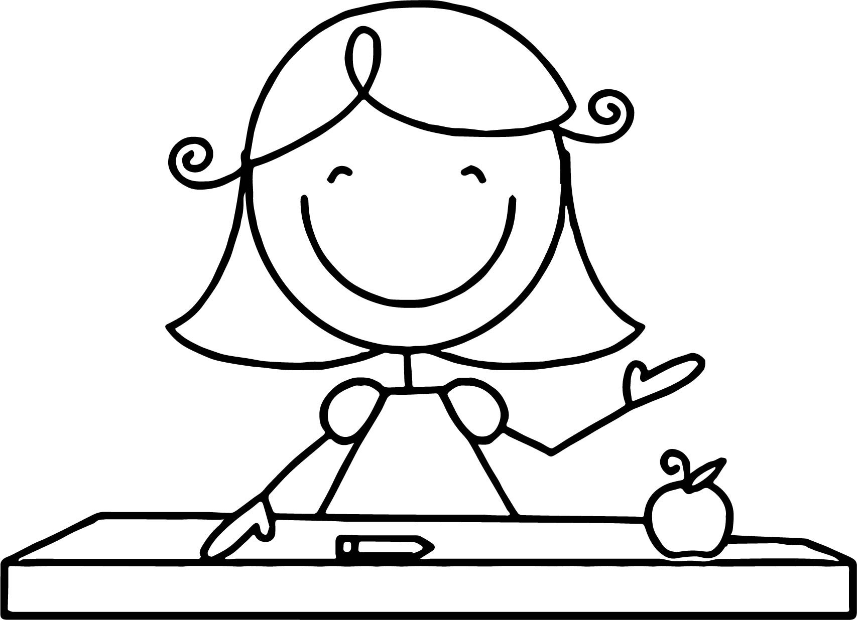 Best ideas about Coloring Pages For Girls Teacher . Save or Pin Teacher Apple Page Coloring Pages Now.