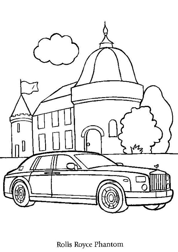 Best ideas about Coloring Pages For Teens Roll Royce . Save or Pin Kleurplaat Autos 4867 Now.