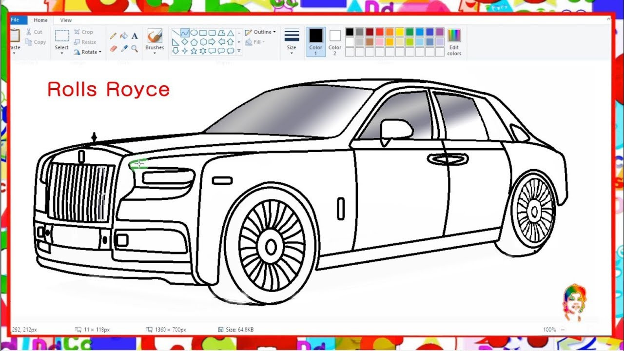 Best ideas about Coloring Pages For Teens Roll Royce . Save or Pin How to draw Luxury Car Learn By Art Now.