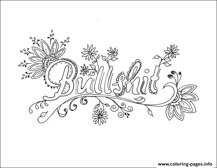 Best ideas about Coloring Sheets For Girls Size Big For The Mouth Of September . Save or Pin Bullshit Word Coloring Pages Printable Now.