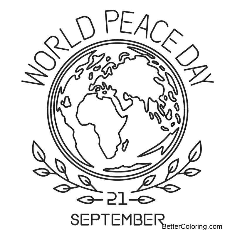 Best ideas about Coloring Sheets For Girls Size Big For The Mouth Of September . Save or Pin September Coloring Pages World Peace Day Free Printable Now.