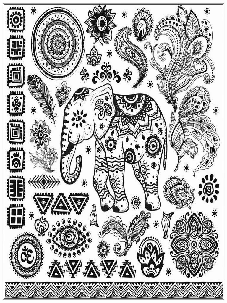 Best ideas about Coloring Sheets For Girls Size Big For The Mouth Of September . Save or Pin Adult Coloring Pages Free African Elephant Now.