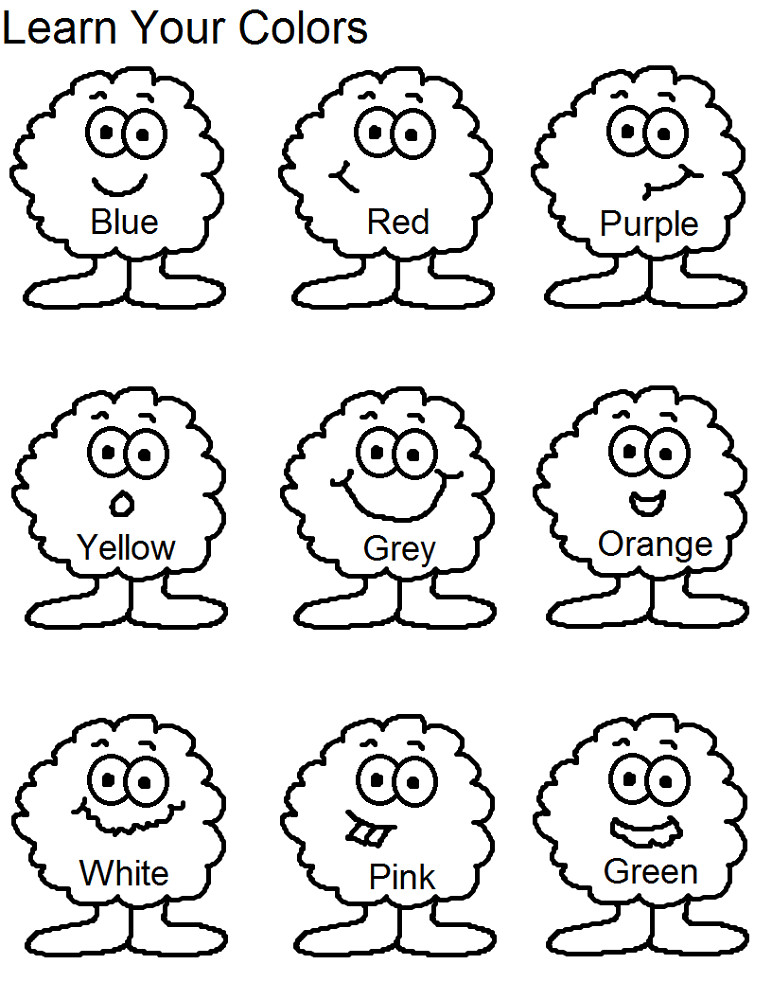 Best ideas about Coloring Sheets For Kids To Learn Colors . Save or Pin Toddlers Learning Printables Now.