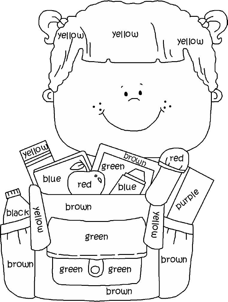 Best ideas about Coloring Sheets For Kids To Learn Colors . Save or Pin great for learning colors Now.