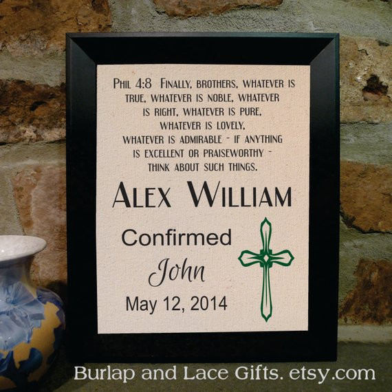Best ideas about Confirmation Gift Ideas For Boys . Save or Pin Confirmation Gift for Boy Framed by BurlapandLaceGifts on Etsy Now.