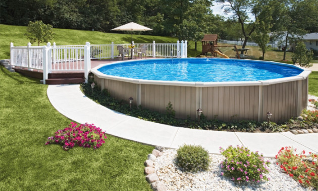 Best ideas about Cost To Put In An Inground Pool . Save or Pin How Much Does a Semi Inground Pool Cost Now.