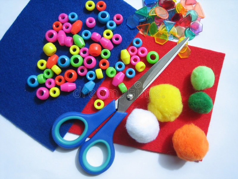 Best ideas about Craft Items For Kids . Save or Pin Kids craft items stock image Image of woolen green Now.
