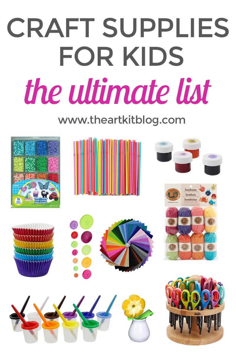 Best ideas about Craft Items For Kids . Save or Pin The Ultimate List of Arts and Crafts Supplies for Kids Now.