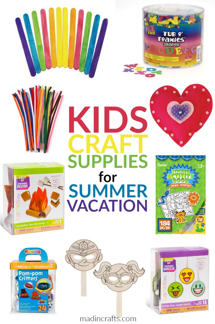 Best ideas about Craft Items For Kids . Save or Pin KIDS CRAFT SUPPLIES FOR SUMMER VACATION Mad in Crafts Now.