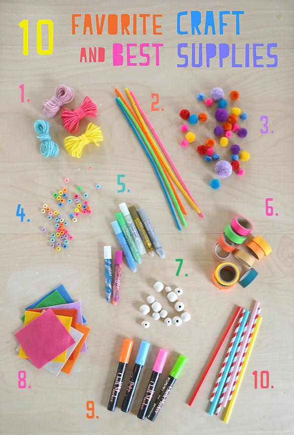Best ideas about Craft Items For Kids . Save or Pin My 10 Favorite Craft Supplies for Kids ARTBAR Now.
