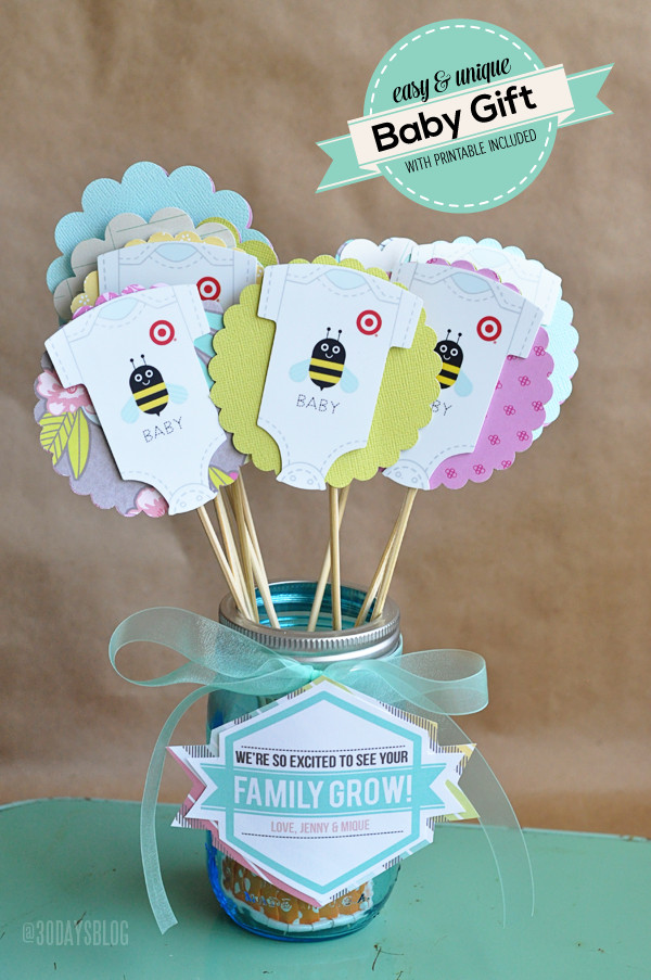Best ideas about Creative Baby Shower Gift Ideas . Save or Pin Unique Baby Shower Gift Idea w Printable Now.