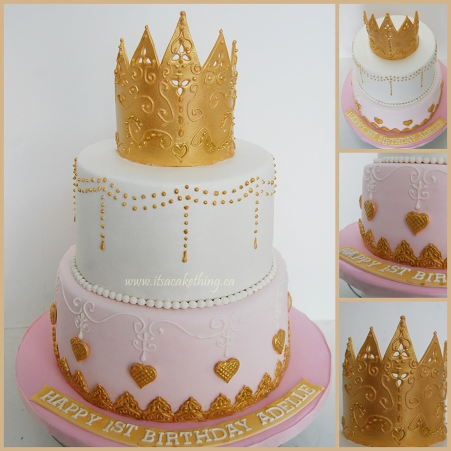 Best ideas about Crown Birthday Cake . Save or Pin Fancy Princess Crown 1St Birthday Cake CakeCentral Now.