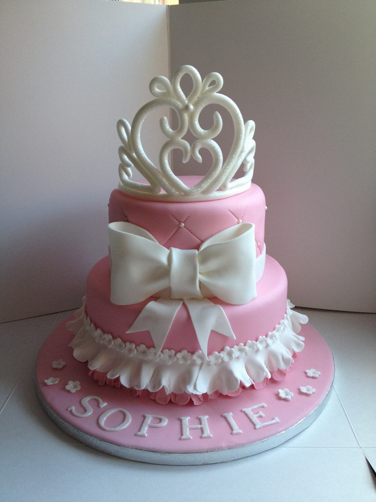 Best ideas about Crown Birthday Cake . Save or Pin My princess tiara cake a 2 tier vanilla cake with a Now.