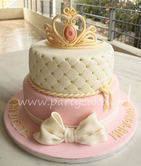 Best ideas about Crown Birthday Cake . Save or Pin princess crown cake Prinsessen taartjes Now.
