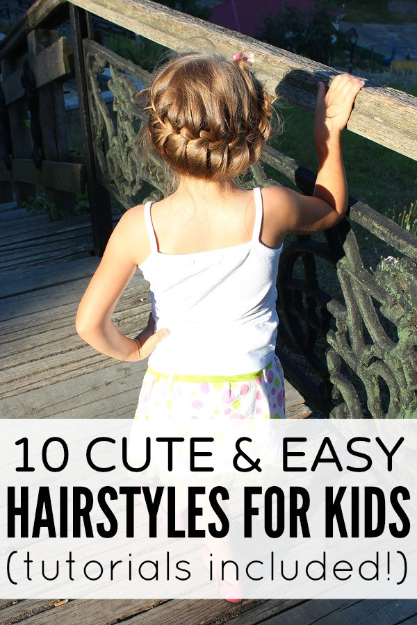 Best ideas about Cute Easy Hairstyles For Kids . Save or Pin 10 cute and easy hairstyles for kids Now.