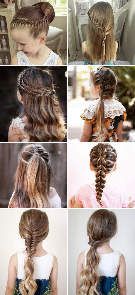 Best ideas about Cute Easy Hairstyles For Kids . Save or Pin Different hairstyles for kids girls Now.
