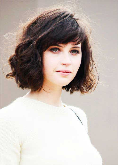 Best ideas about Cute Hairstyles For Thick Curly Hair . Save or Pin 15 Messy Bob With Bangs Now.