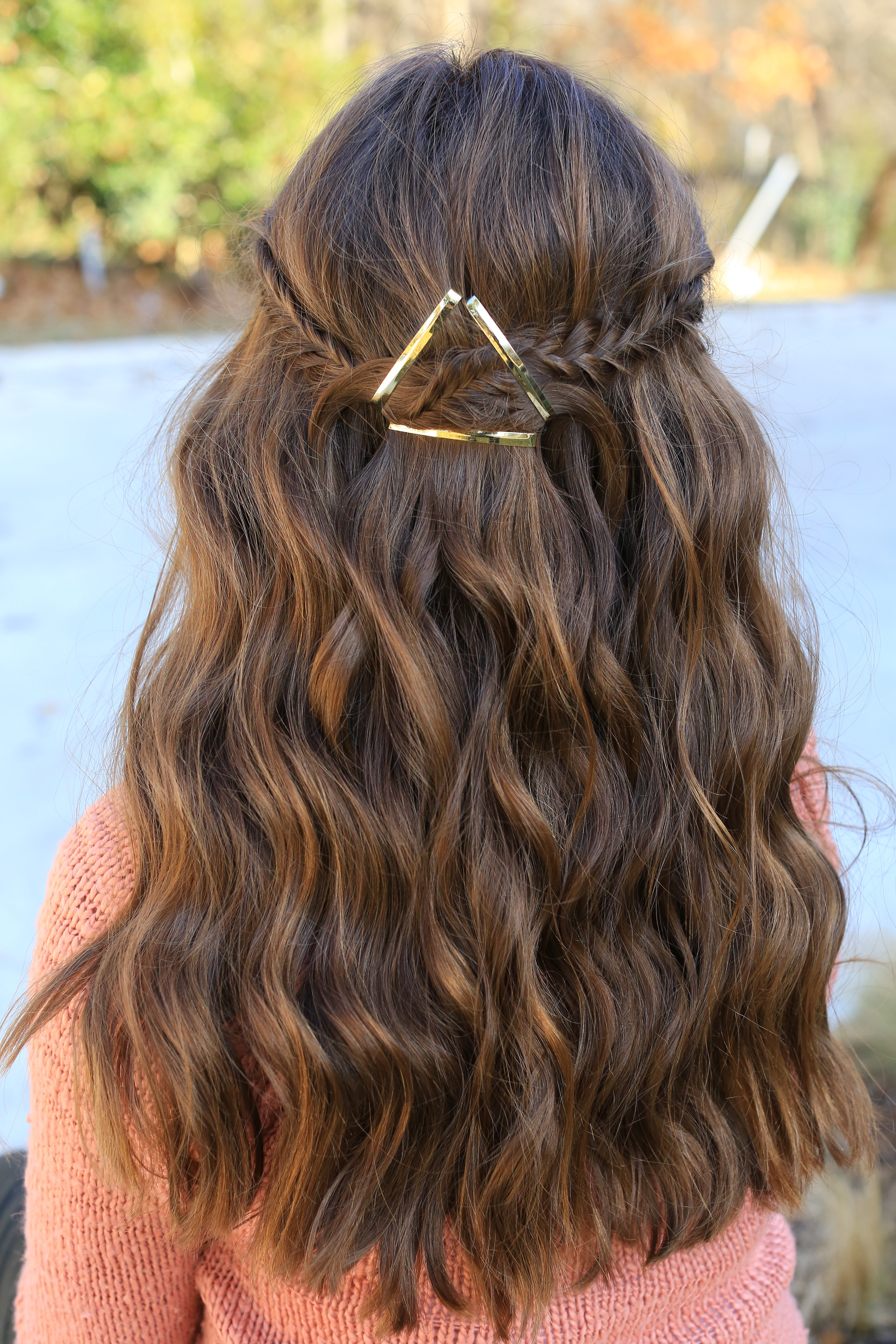 Best ideas about Cute Hairstyles . Save or Pin Barrette Tieback Now.